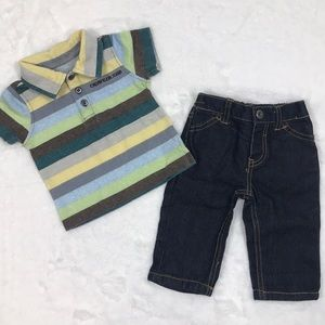 Calvin Klein Baby Boy Polo and Jeans